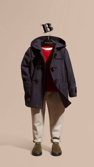 Technical Wool Cashmere Duffle Coat