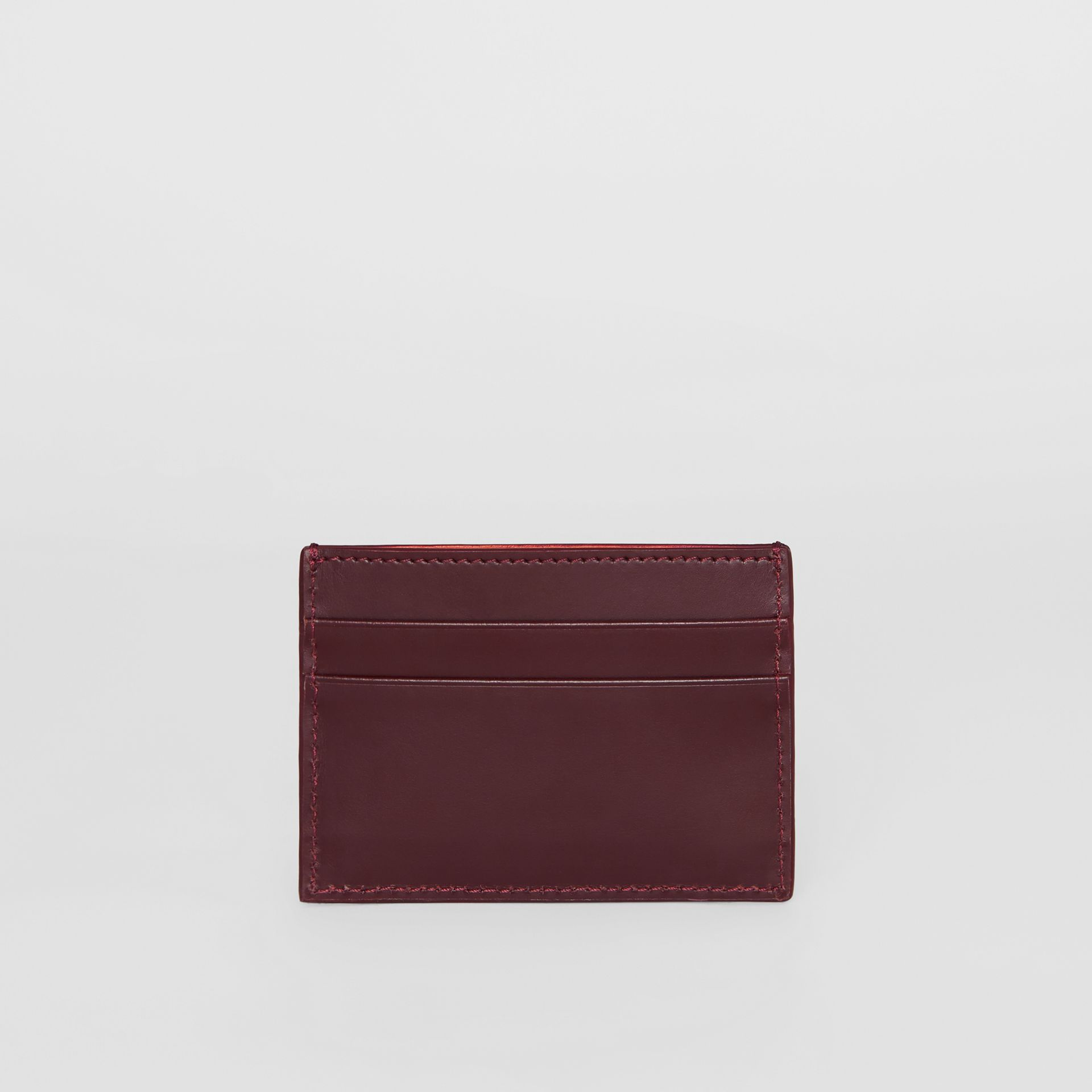 Monogram Motif Leather Card Case in Oxblood - Men | Burberry United States - gallery image 4