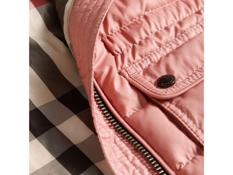 Detachable Hood Down-filled Gilet in Pale Rose - Girl | Burberry United States - cell image 1