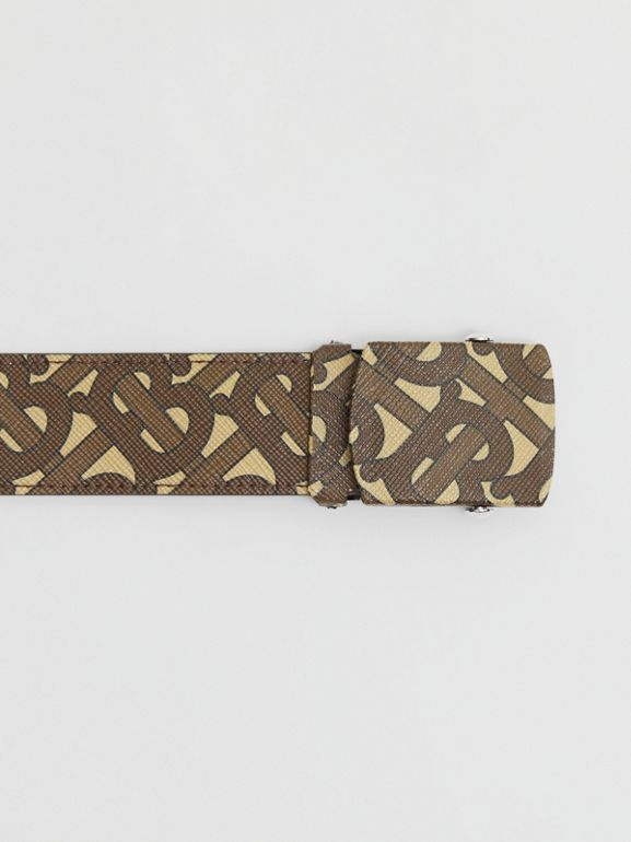 Monogram Print E-canvas Belt in Bridle Brown - Men | Burberry United Kingdom - cell image 1