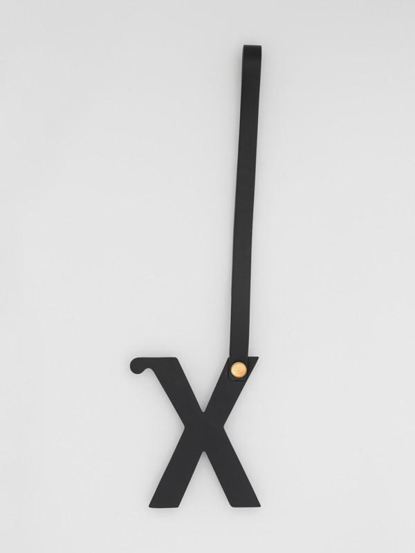 「X」スタッズレザー アルファベットチャーム (ブラック/ライトゴールド) | バーバリー - cell image 2