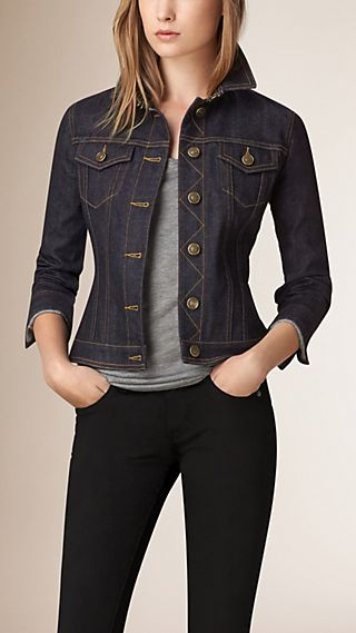 Japanese Selvedge Peplum Waist Denim Jacket