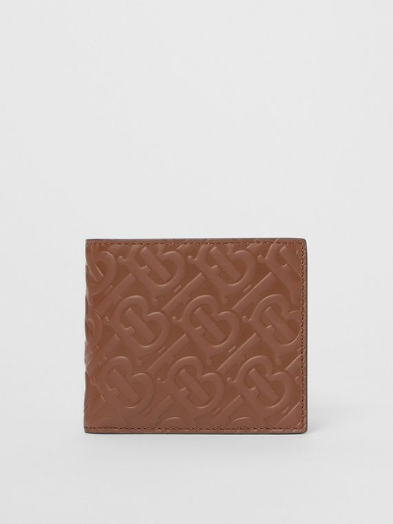 Monogram Leather International Bifold Wallet in Dark Tan