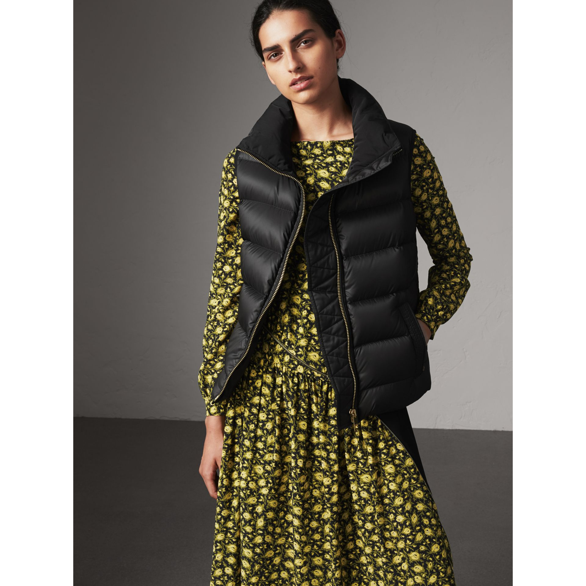 Down-filled Gilet in Black - Women | Burberry United Kingdom - gallery image 1