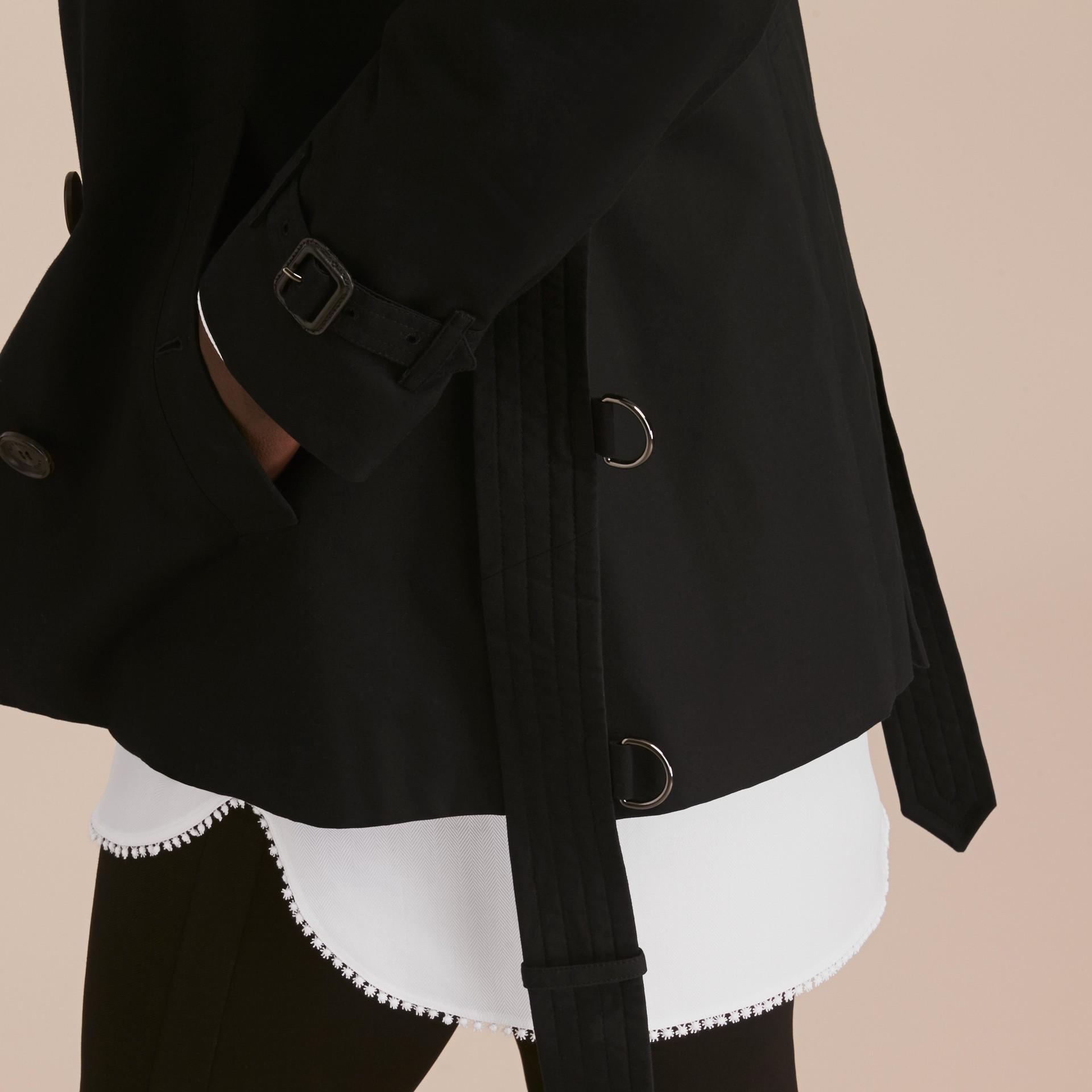 Negro Trench coat Chelsea – Trench coat Heritage corto Negro - imagen de la galería 6