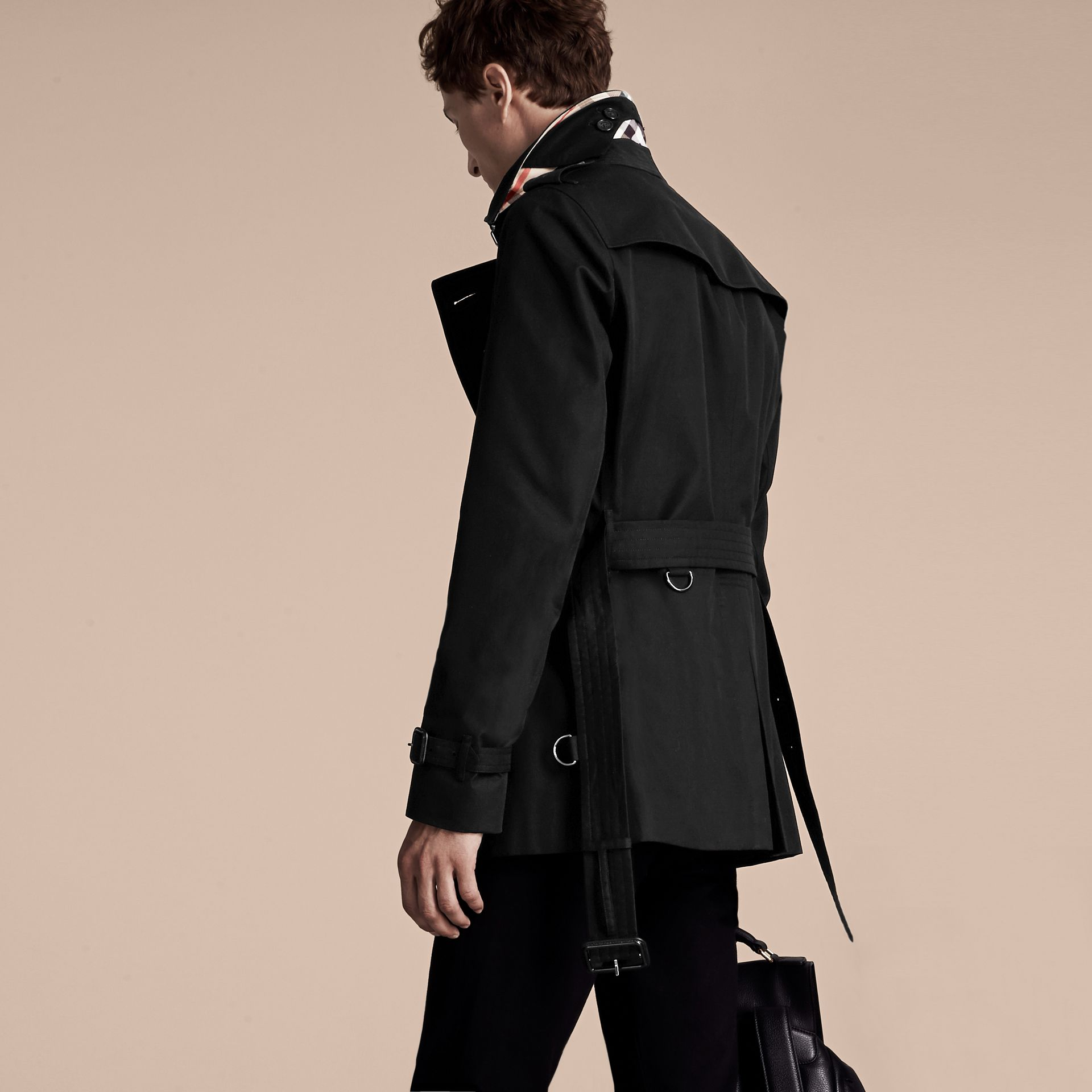 Noir Trench-coat Heritage court The Chelsea Noir - photo de la galerie 3