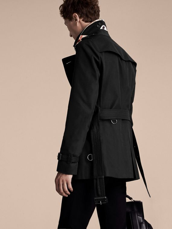 Black The Chelsea – Short Heritage Trench Coat Black - cell image 2