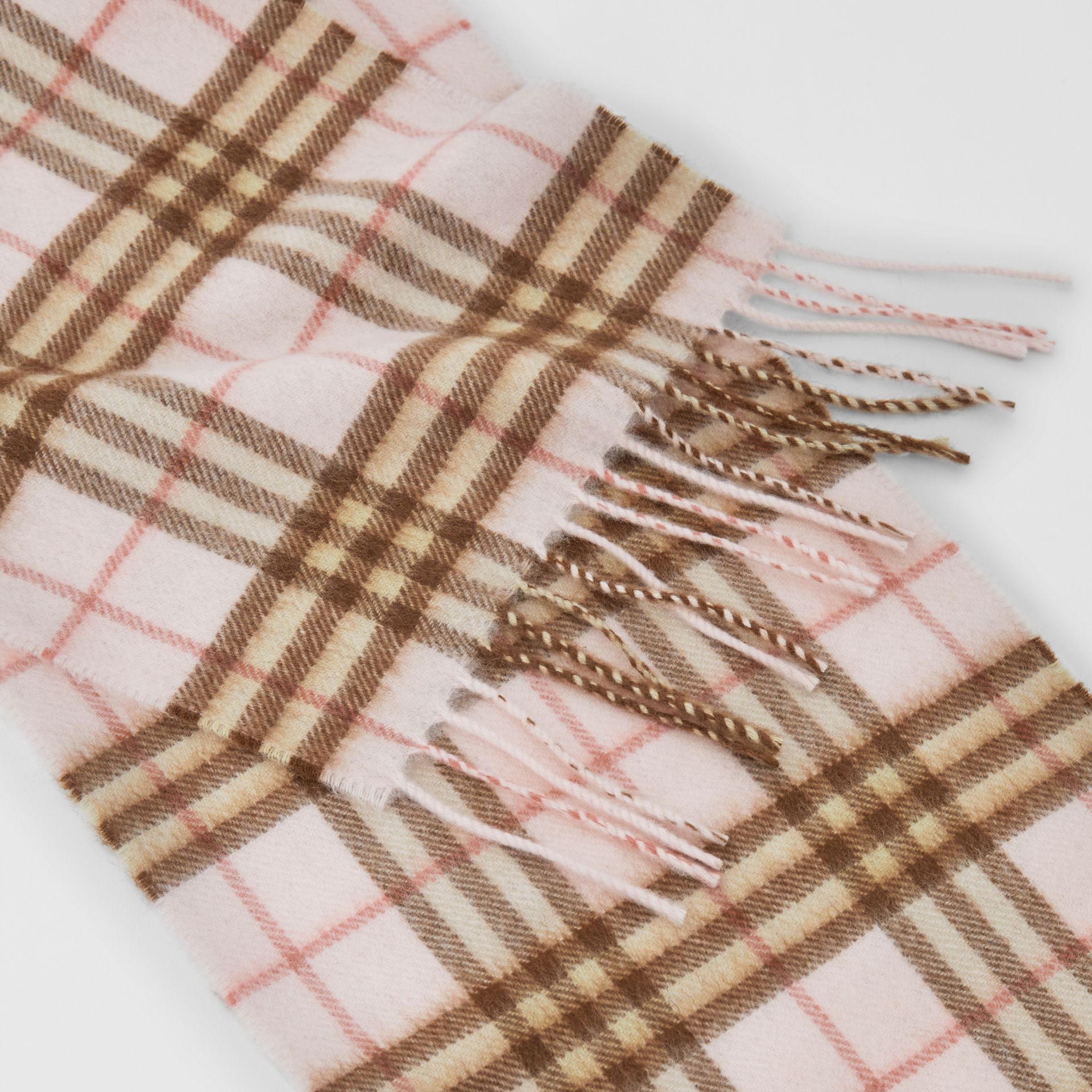 The Mini Classic Vintage Check Cashmere Scarf in Ice Pink - Children | Burberry - gallery image 1
