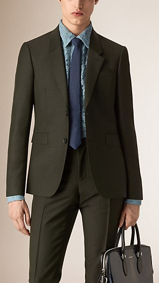 Slim Fit Mohair Wool Half-canvas Tailored Jacket
