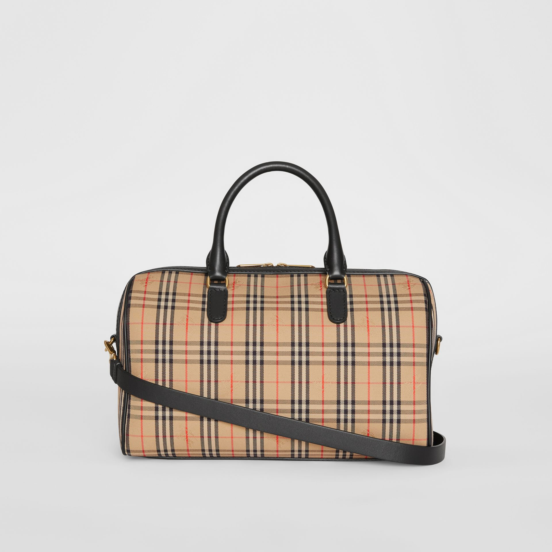 The Medium 1983 Check Link Bowling Bag in Black - Women | Burberry United Kingdom - gallery image 7