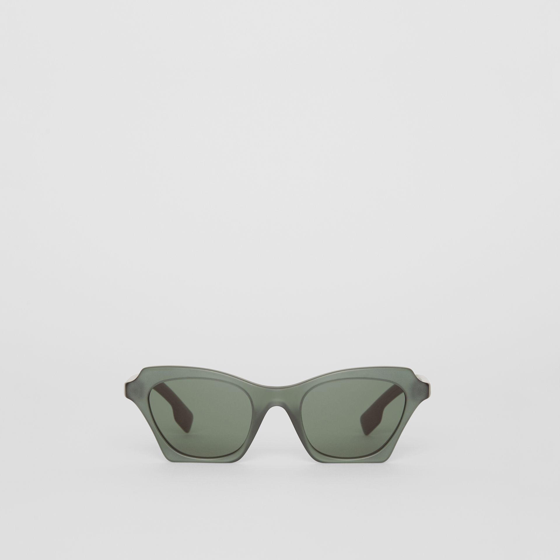 Butterfly Frame Sunglasses in Green - Women | Burberry Australia - gallery image 0