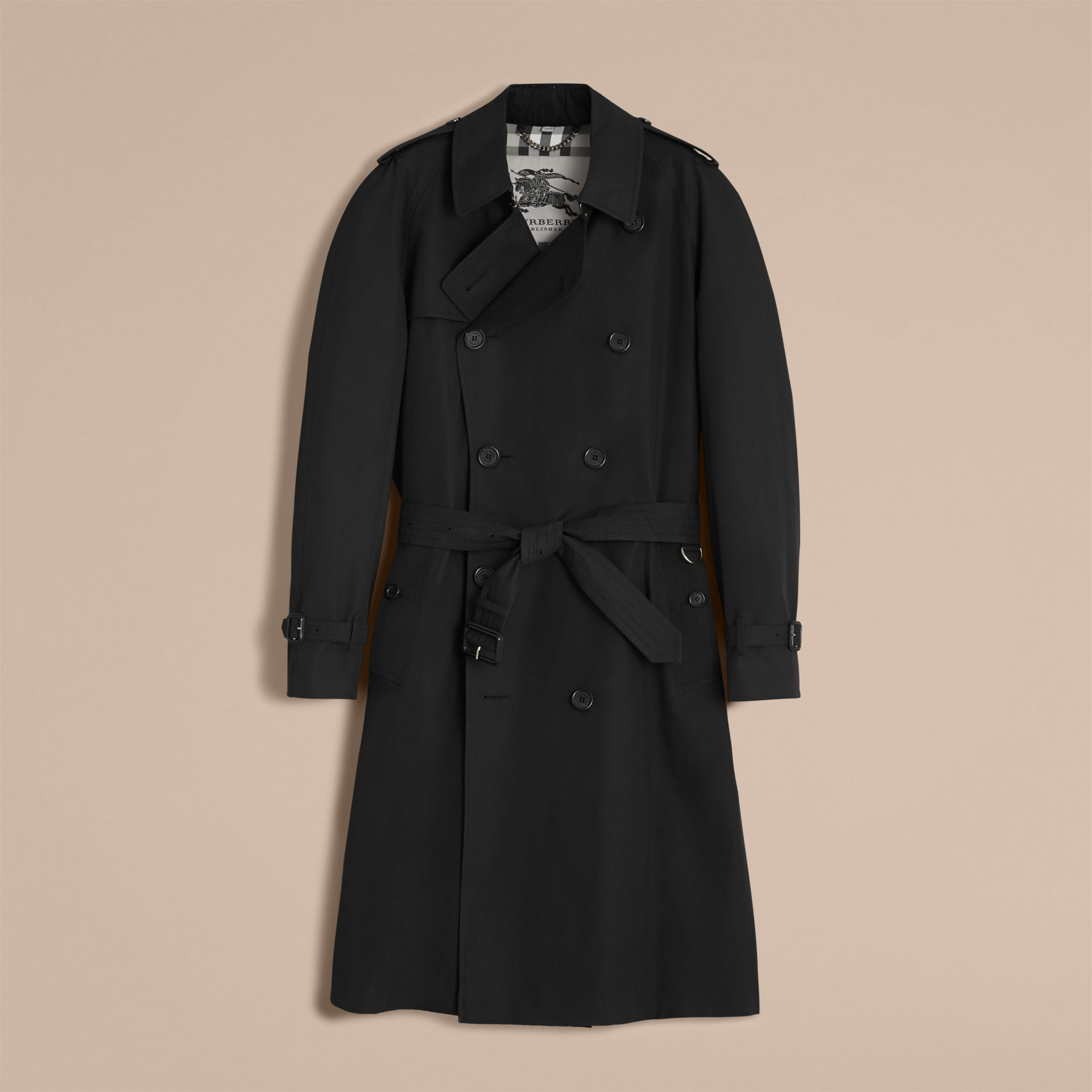 Black The Westminster – Long Heritage Trench Coat Black - gallery image 5