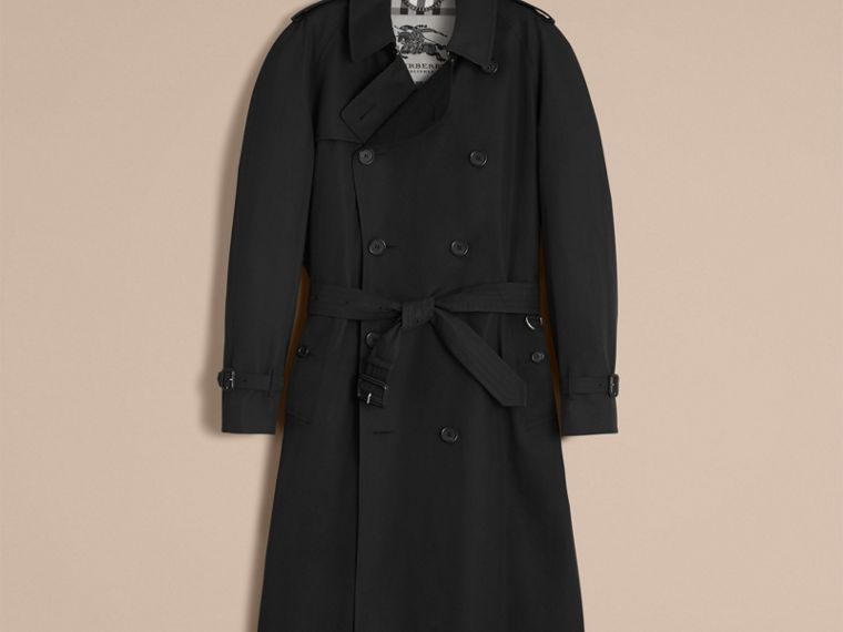 Black The Westminster – Long Heritage Trench Coat Black - cell image 4