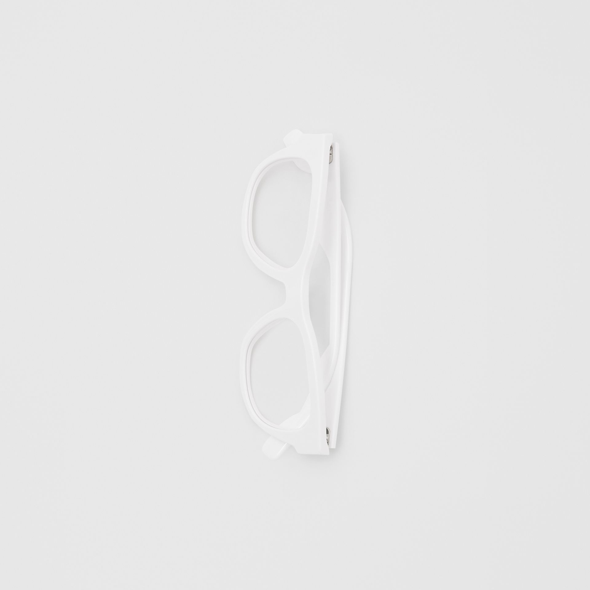 Square Optical Frames in White - Men | Burberry - gallery image 3