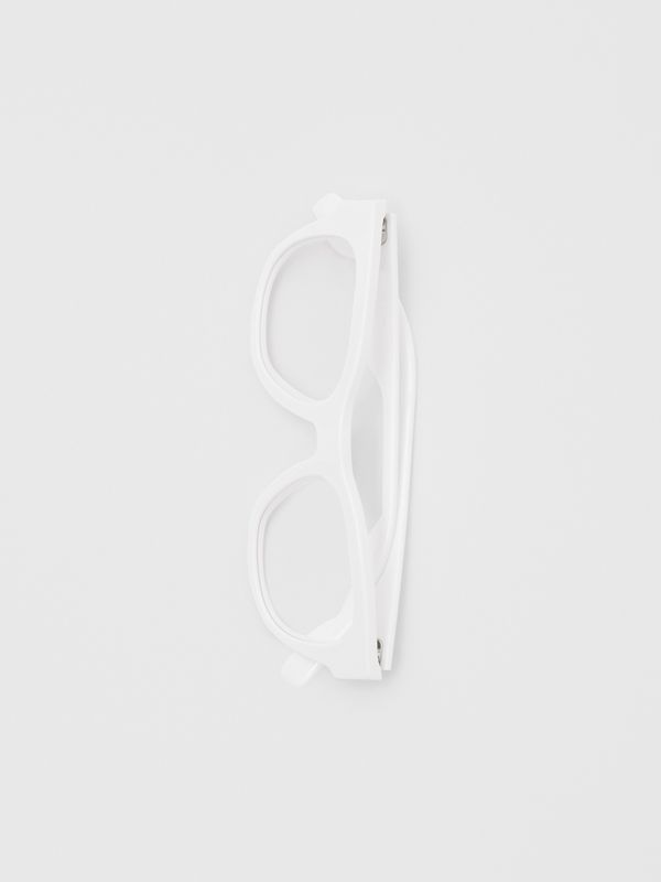 Square Optical Frames in White - Men | Burberry - cell image 3