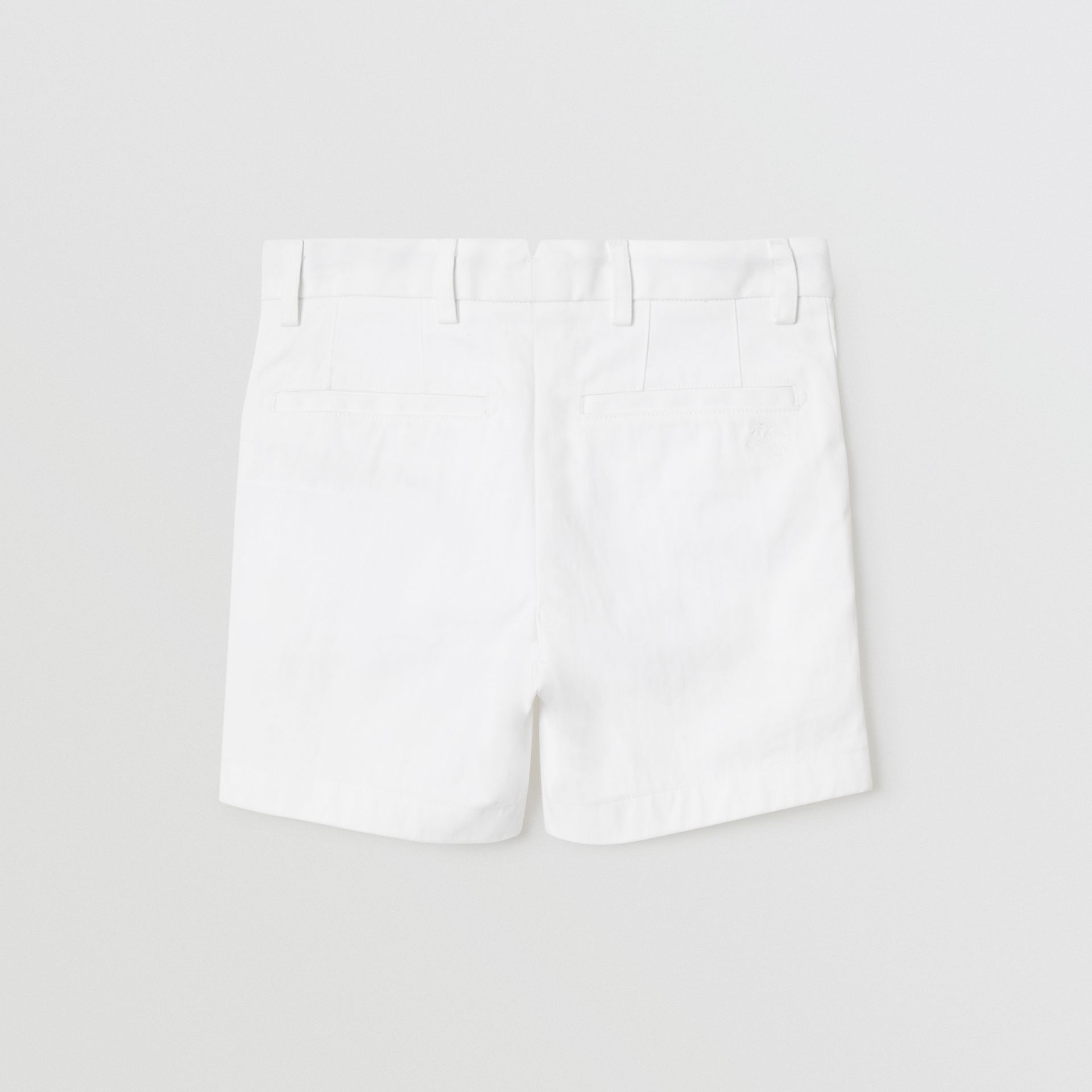 Cotton Chino Shorts in Optic White | Burberry United States - gallery image 4