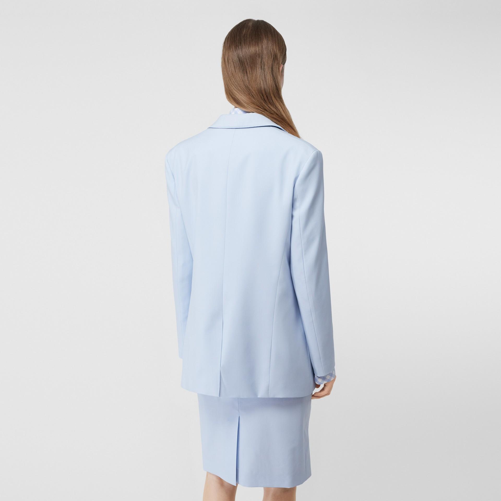 Blazer en laine avec découpe (Bleu Pâle) - Femme | Burberry Canada - photo de la galerie 2