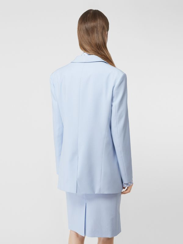 Wool Step-through Blazer in Pale Blue - Women | Burberry - cell image 2