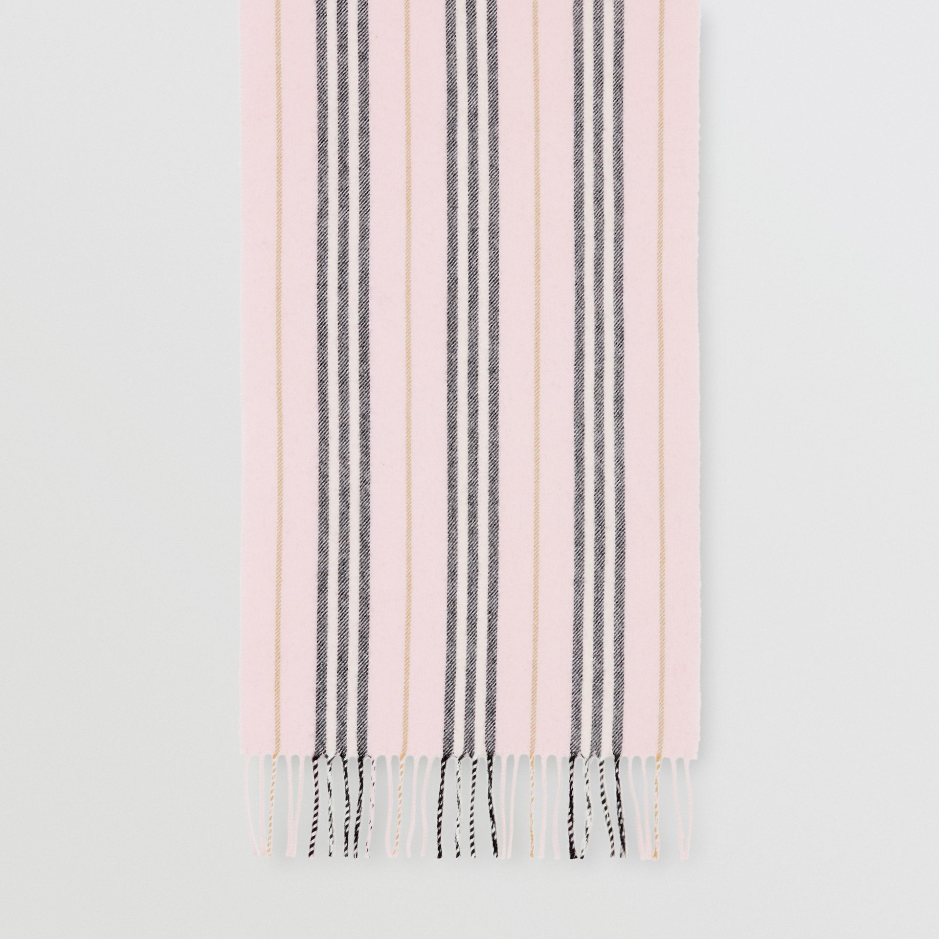 Icon Stripe Cashmere Scarf in Alabaster | Burberry - gallery image 4