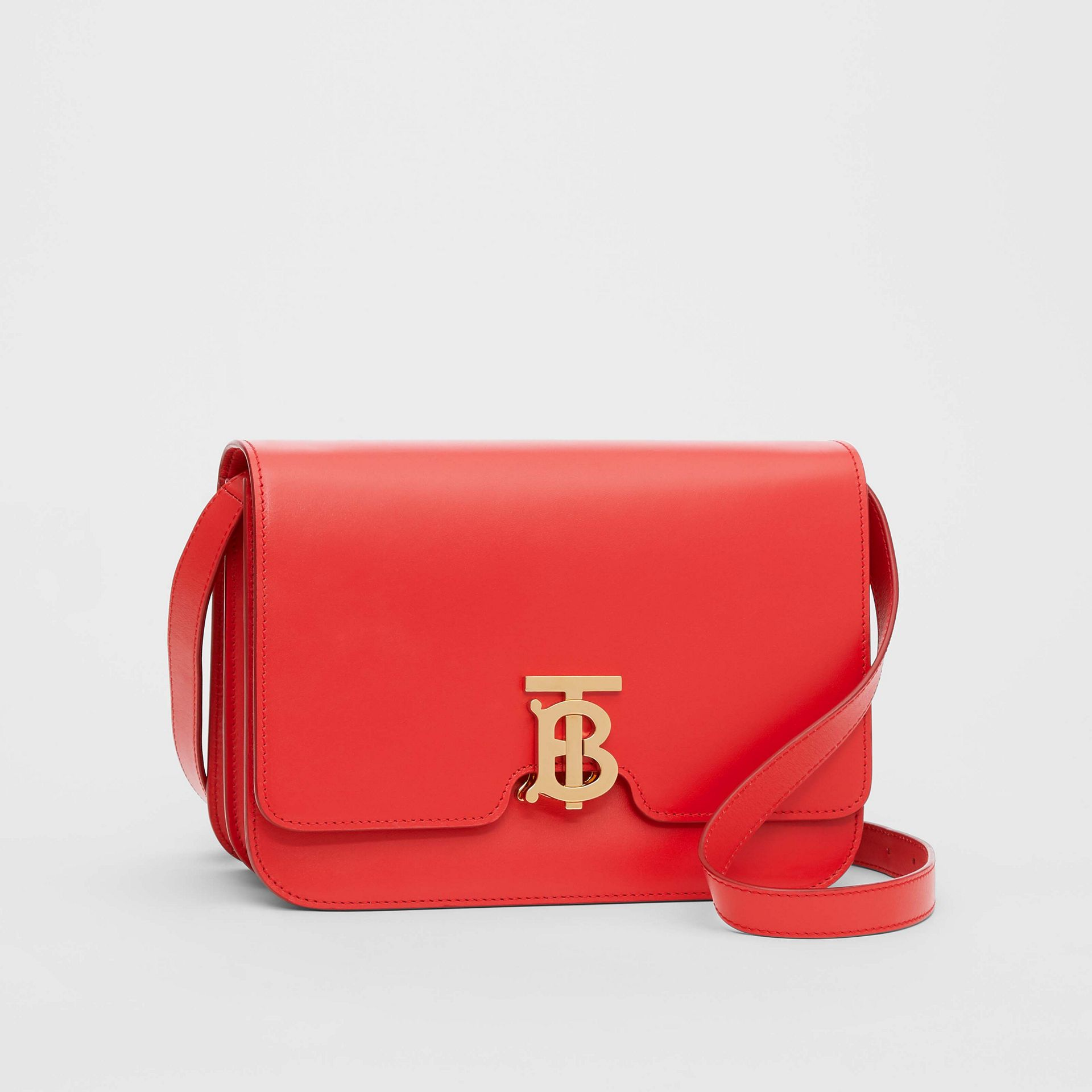 Medium Leather TB Bag in Bright Red - Women | Burberry United States - gallery image 6