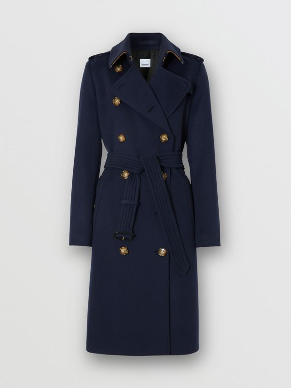 Cashmere Trench Coat in Navy - Women | Burberry - cell image 3