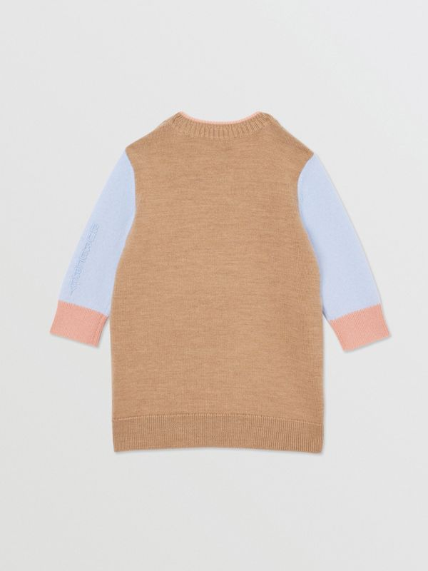 Unicorn Intarsia Wool Cashmere Dress in Camel - Children   Burberry United Kingdom - cell image 3