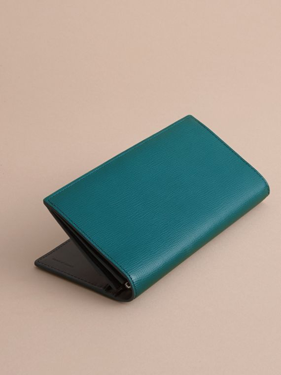 London Leather Continental Wallet in Dark Teal | Burberry - cell image 3