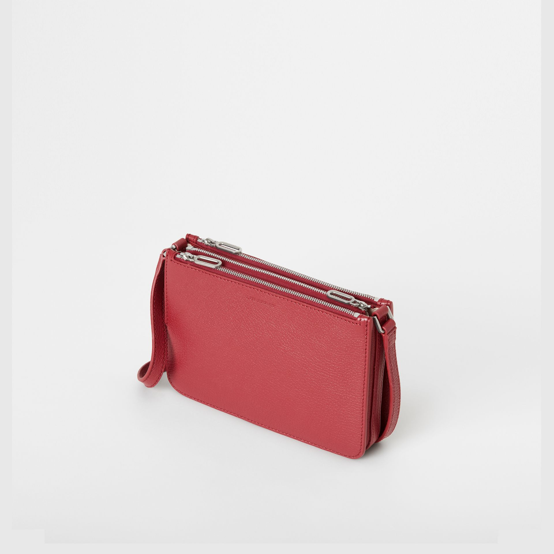 Triple Zip Grainy Leather Crossbody Bag in Crimson - Women | Burberry - gallery image 3