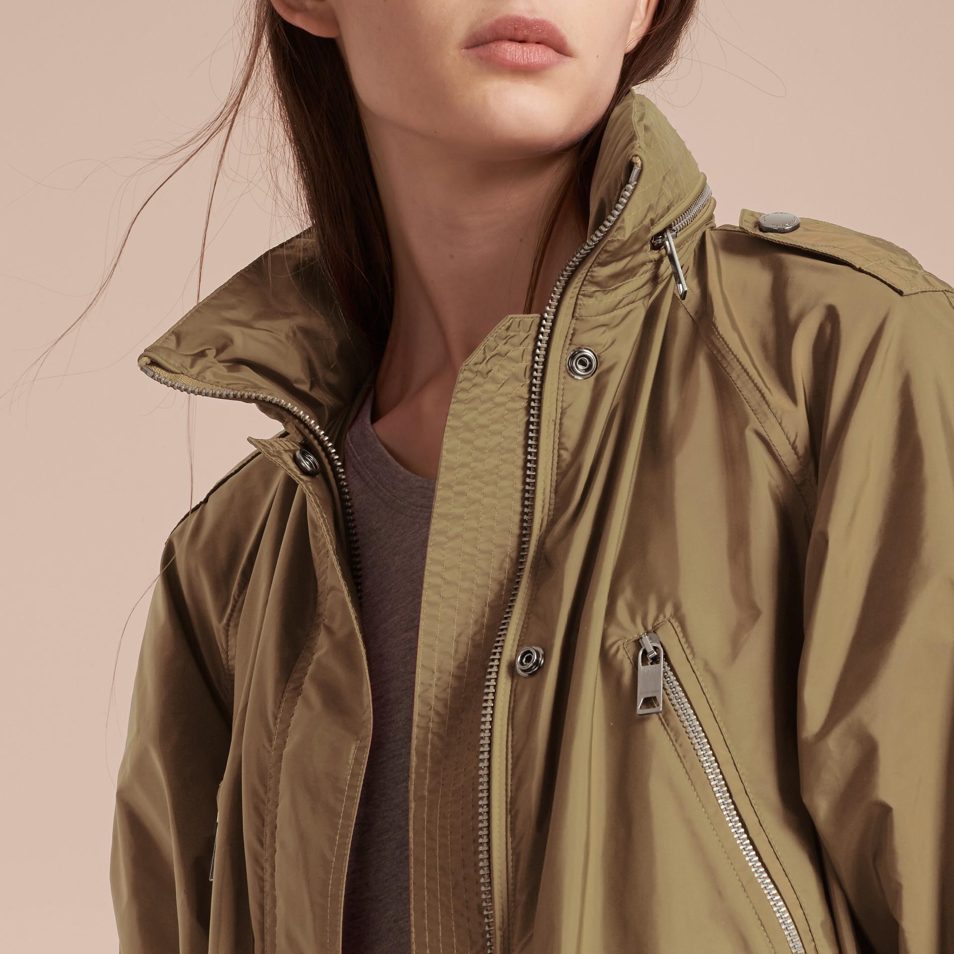 Showerproof Parka Jacket with Packaway Hood Sisal - gallery image 5