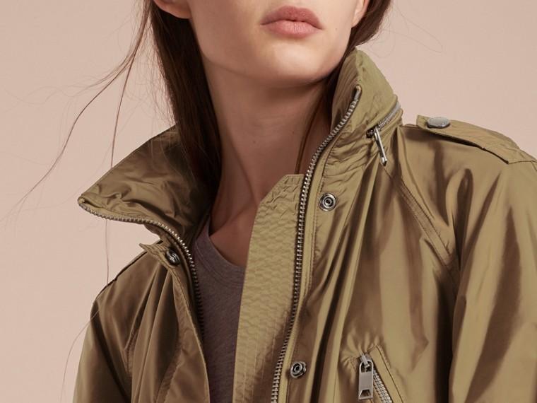 Showerproof Parka Jacket with Packaway Hood Sisal - cell image 4