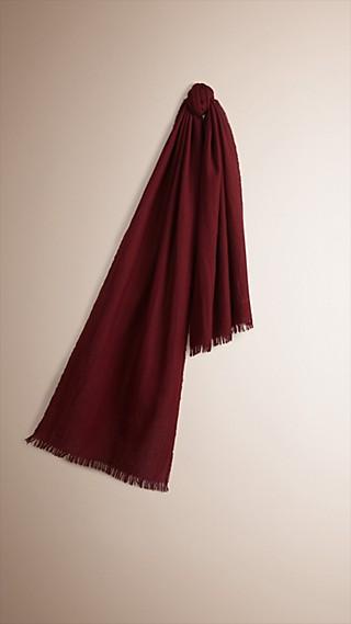 Écharpe légère en laine et cachemire