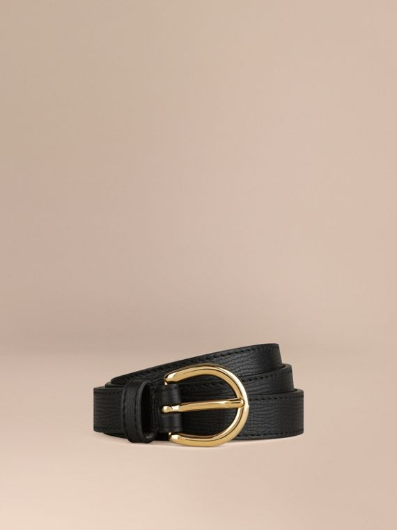 Grainy Leather Belt Black