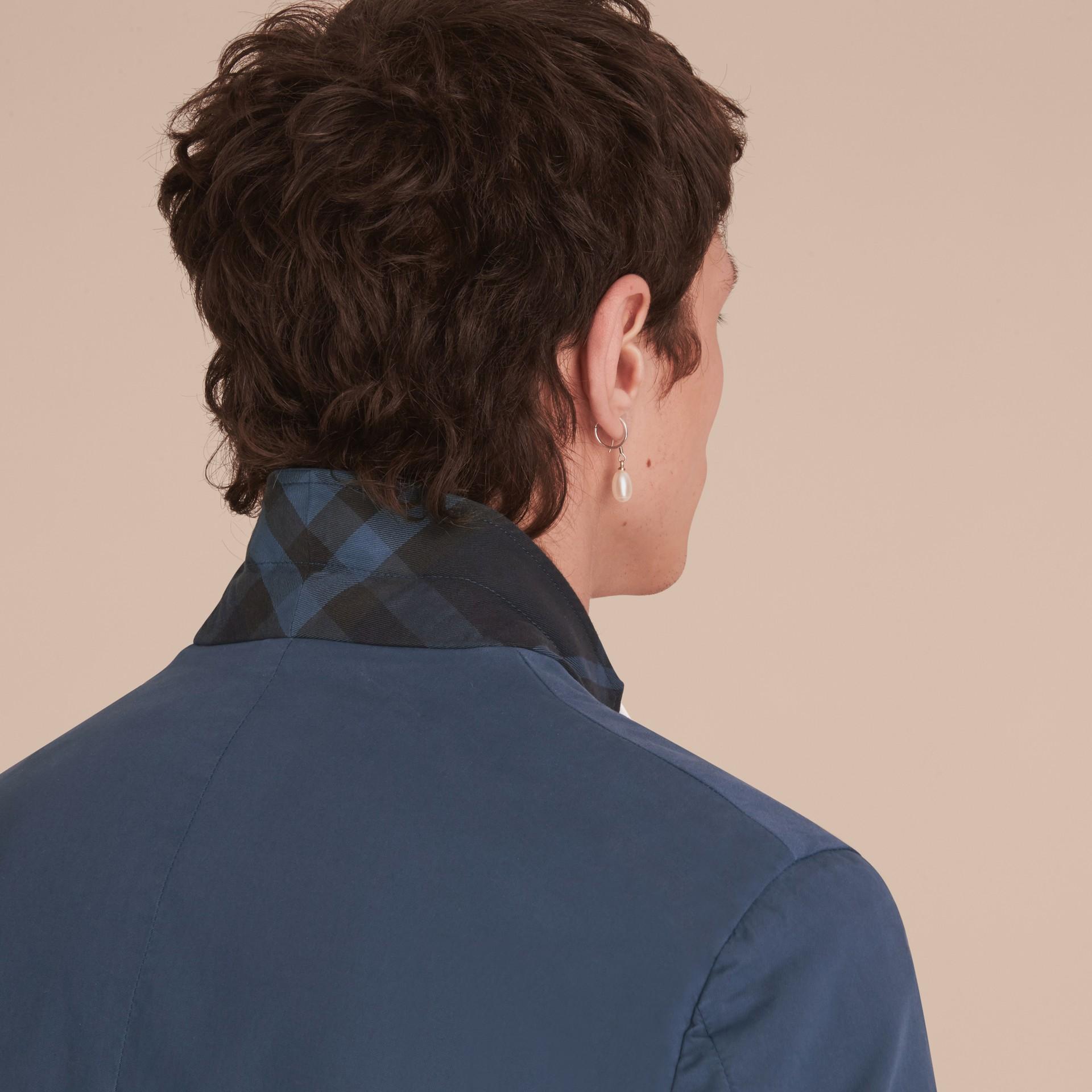 Slim Fit Stretch-cotton Blazer Navy - gallery image 7