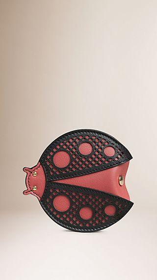 Ladybird Laser-cut Leather Coin Case