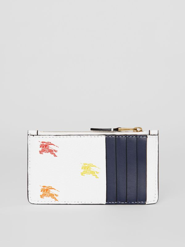 Equestrian Knight Leather Zip Card Case in Chalk White - Women | Burberry - cell image 3
