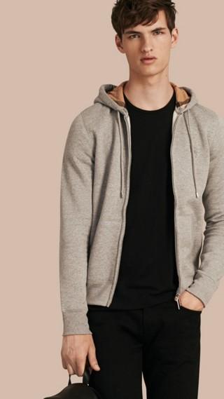 Haut en jersey de coton à capuche