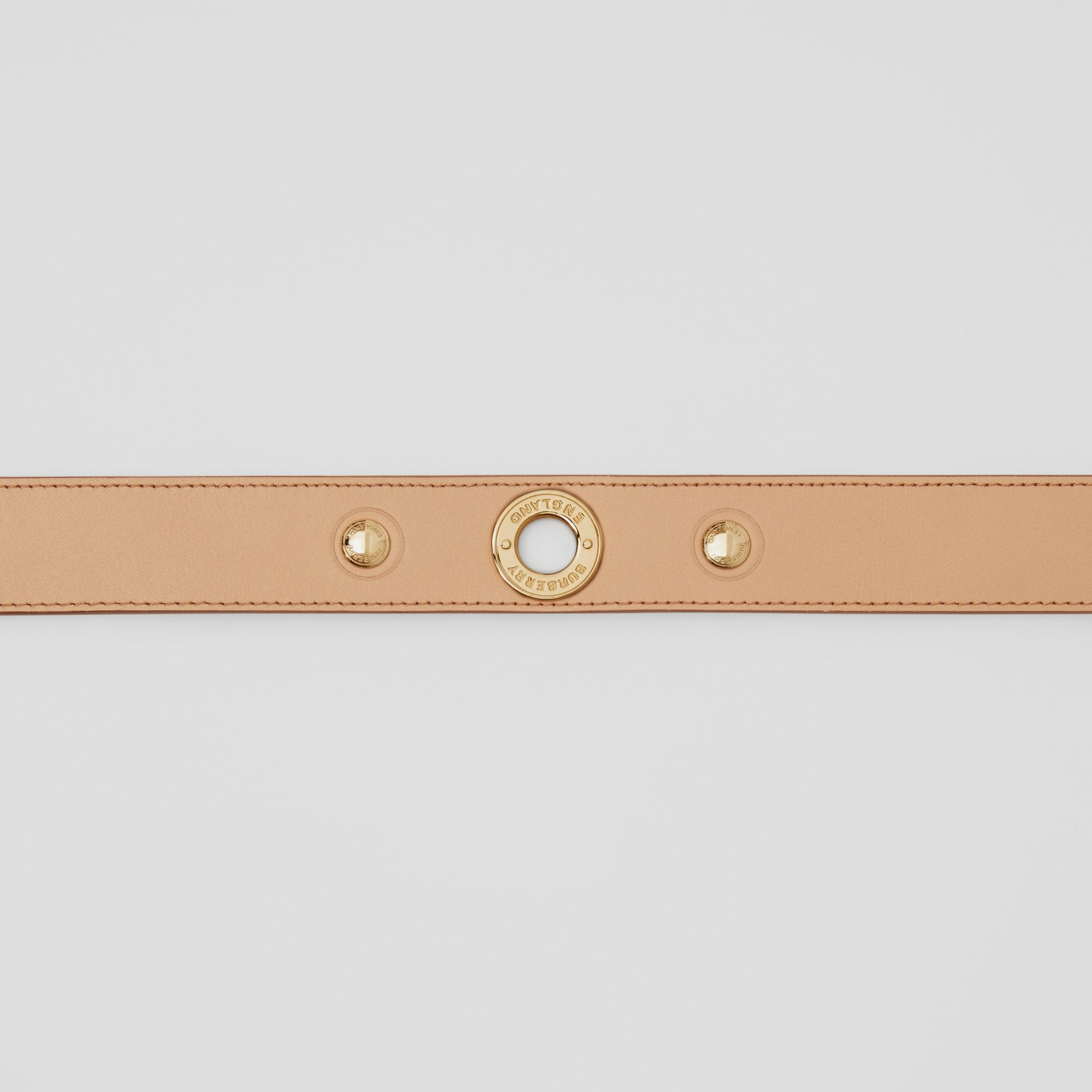 Triple Stud Leather Belt in Honey - Women | Burberry - gallery image 1