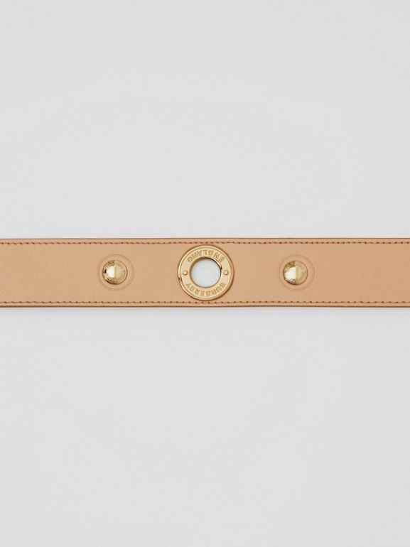 Triple Stud Leather Belt in Honey - Women | Burberry - cell image 1