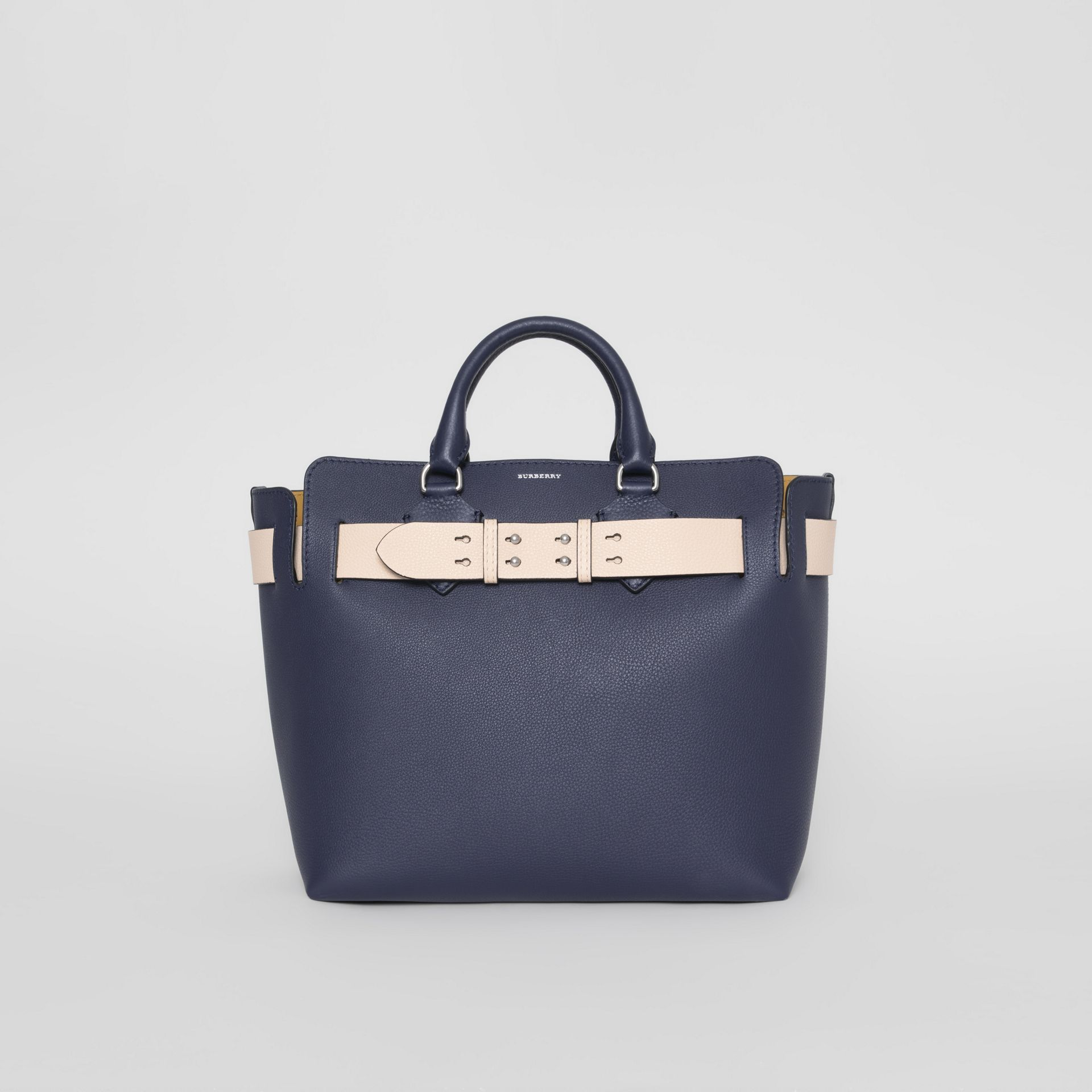 The Medium Leather Belt Bag in Regency Blue - Women | Burberry United Kingdom - gallery image 0