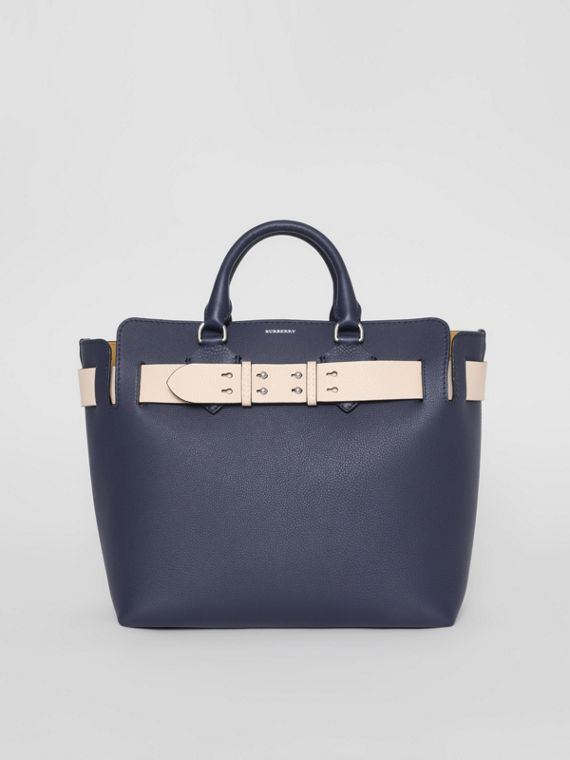 Borsa The Belt media in pelle (Blu Reggenza)