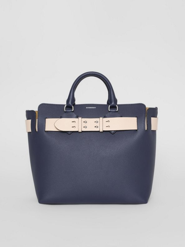 The Medium Leather Belt Bag in Regency Blue