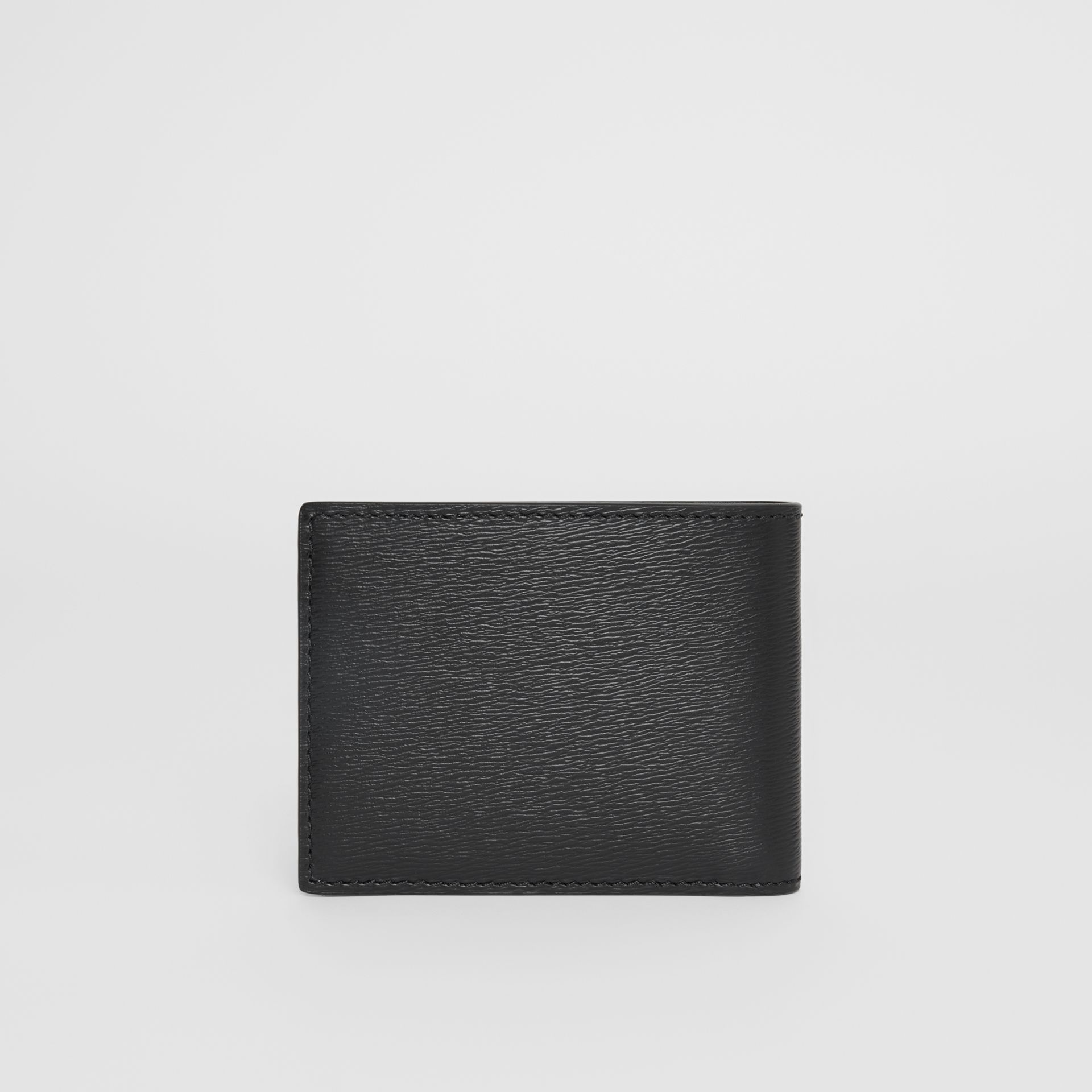 London Leather Bifold Wallet in Black - Men | Burberry Australia - gallery image 4