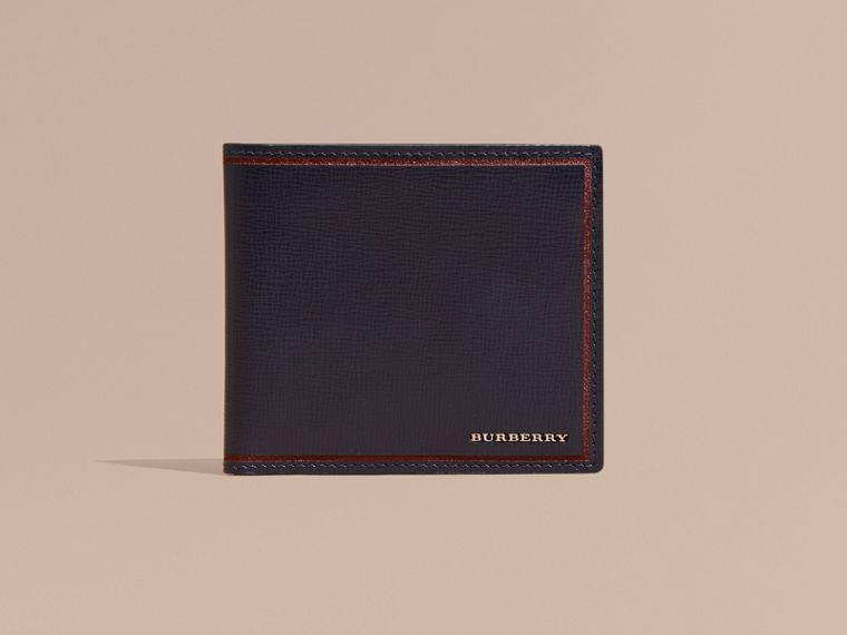 London Leather International Bifold Wallet Dark Navy - cell image 1