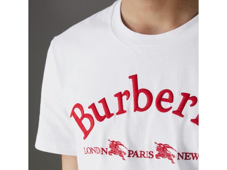 Camiseta de algodão com logo do acervo (Branco) - Homens | Burberry - cell image 1