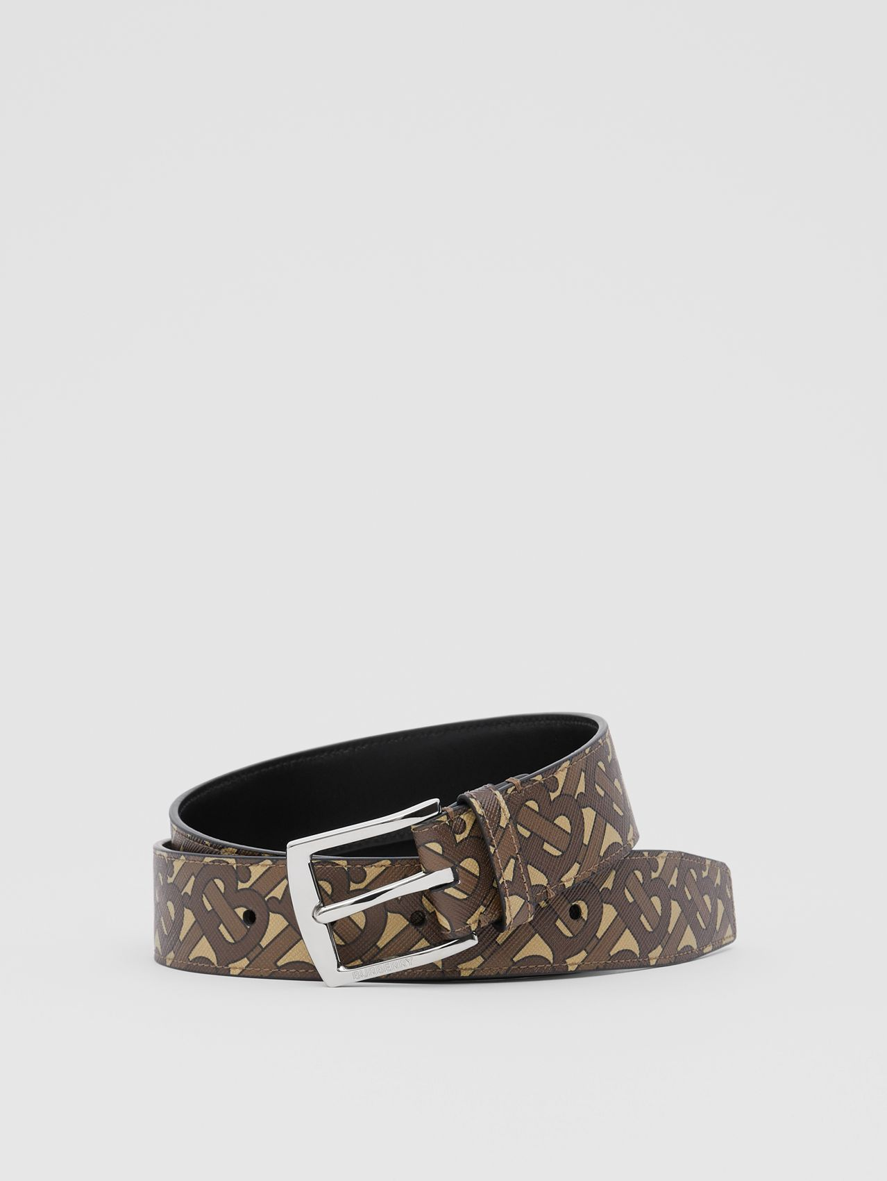 Monogram E-canvas Belt in Bridle Brown