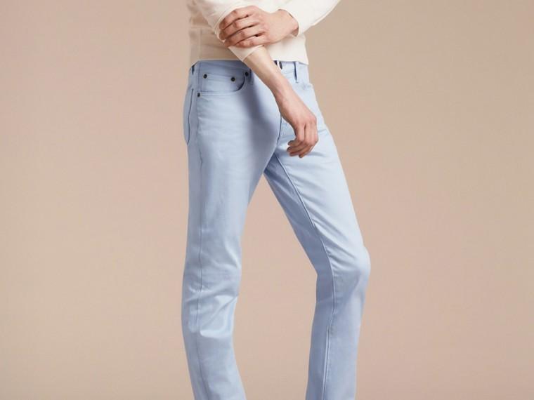 Bleu clair Jean slim en denim stretch japonais Bleu Clair - cell image 4