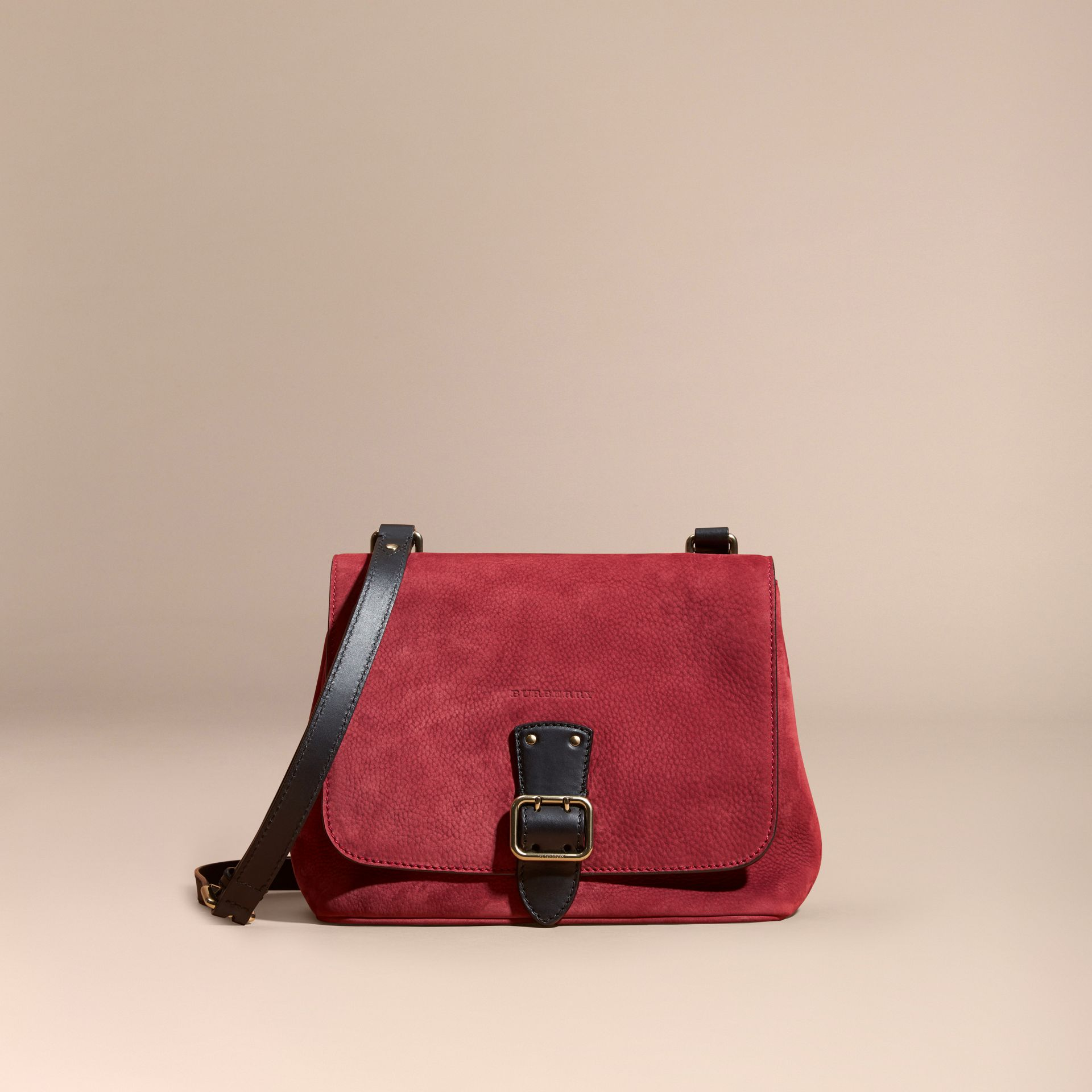 Cherry Grainy Nubuck Crossbody Bag - gallery image 8