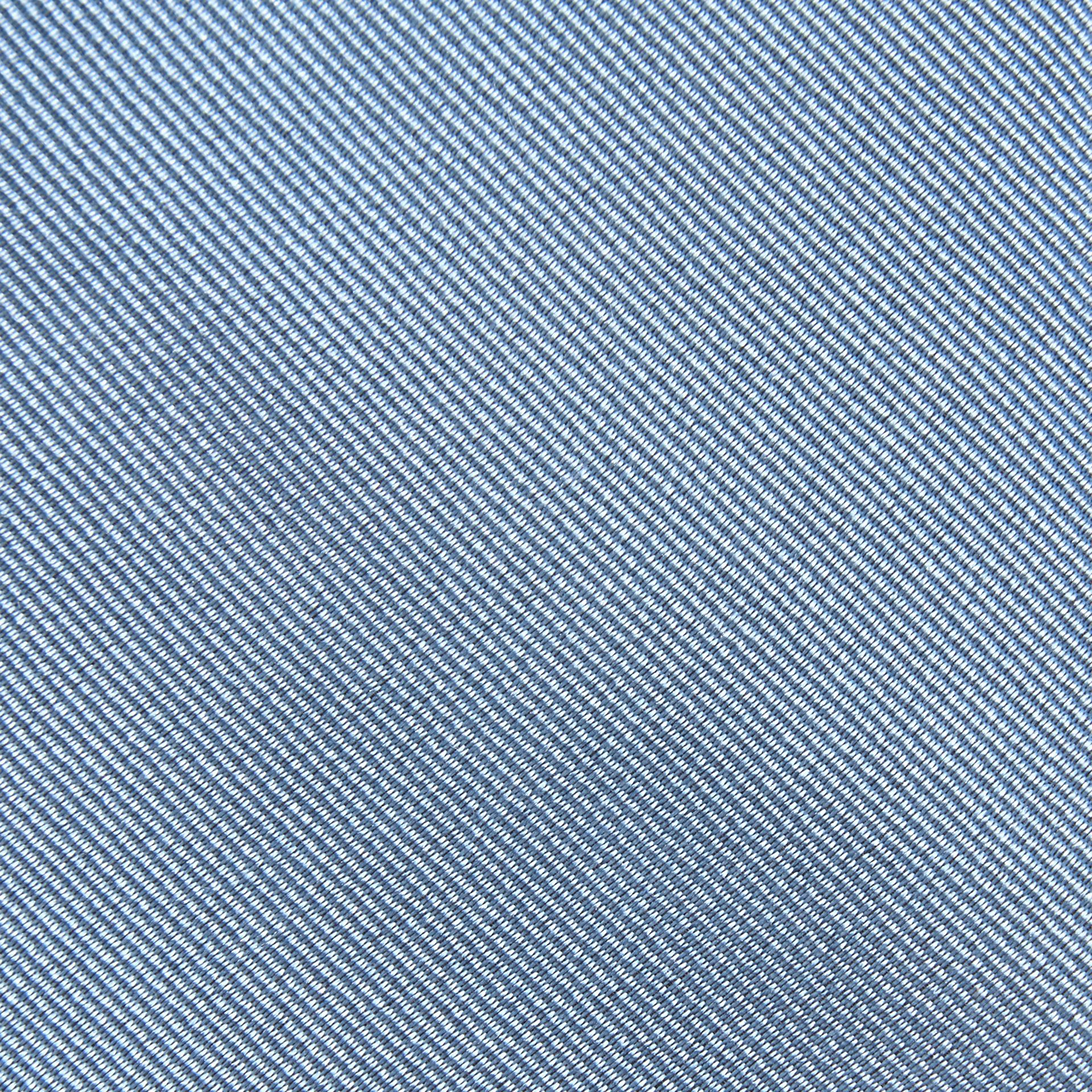 Sky blue Slim Cut Silk Twill Tie Sky Blue - gallery image 2