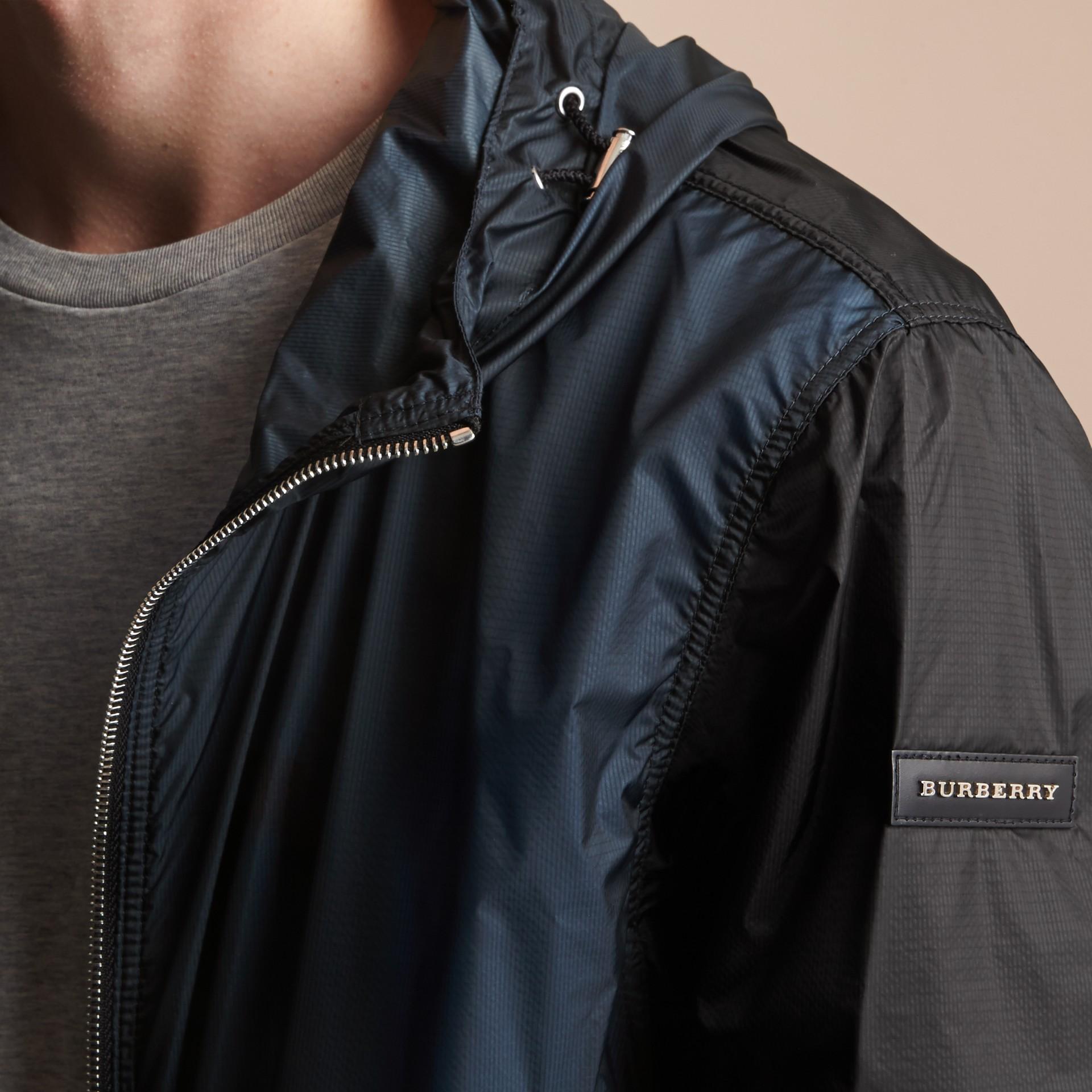 Two-tone Hooded Showerproof Jacket - gallery image 3
