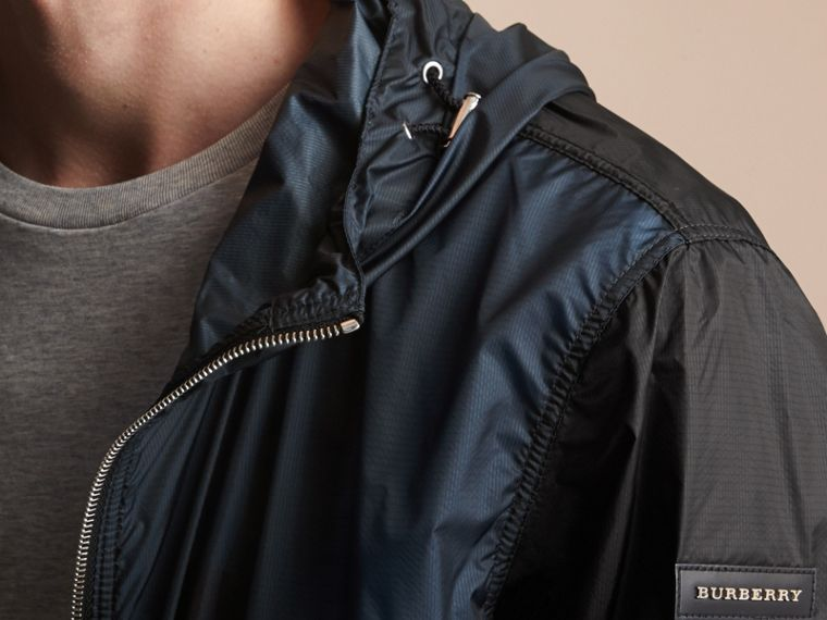 Two-tone Hooded Showerproof Jacket - cell image 2